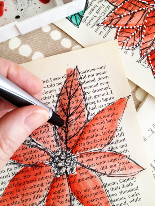 Creative uses for old book pages