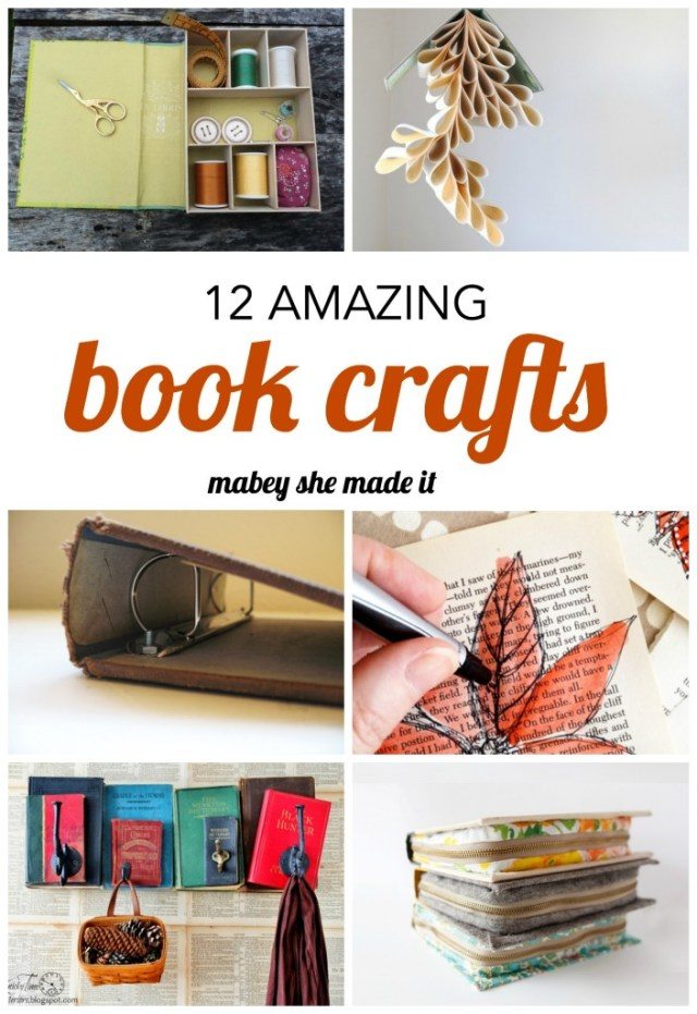 12 Amazing Book Crafts to Try   Mabey She Made It