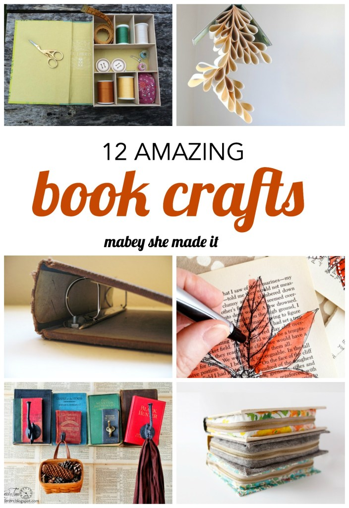 12 Amazing Book Crafts to Try  | Creative uses for old books