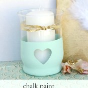 Chalk Paint Heart Candle Holder