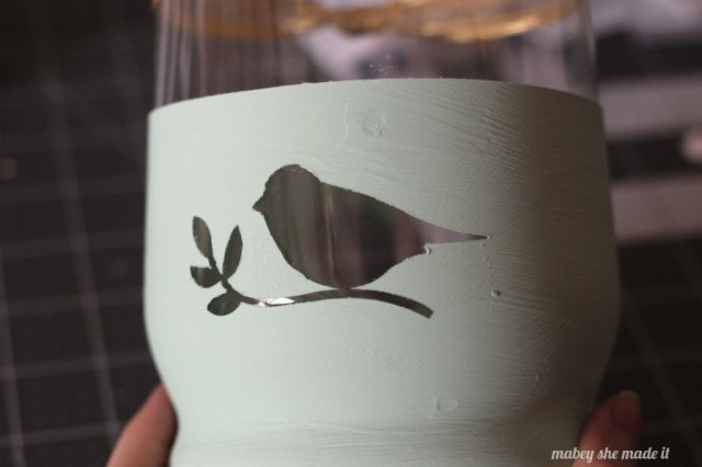 Chalk Paint Spring candle holder | Mabey She Made It