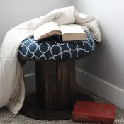 Upcycling Wood Spools to a Stool