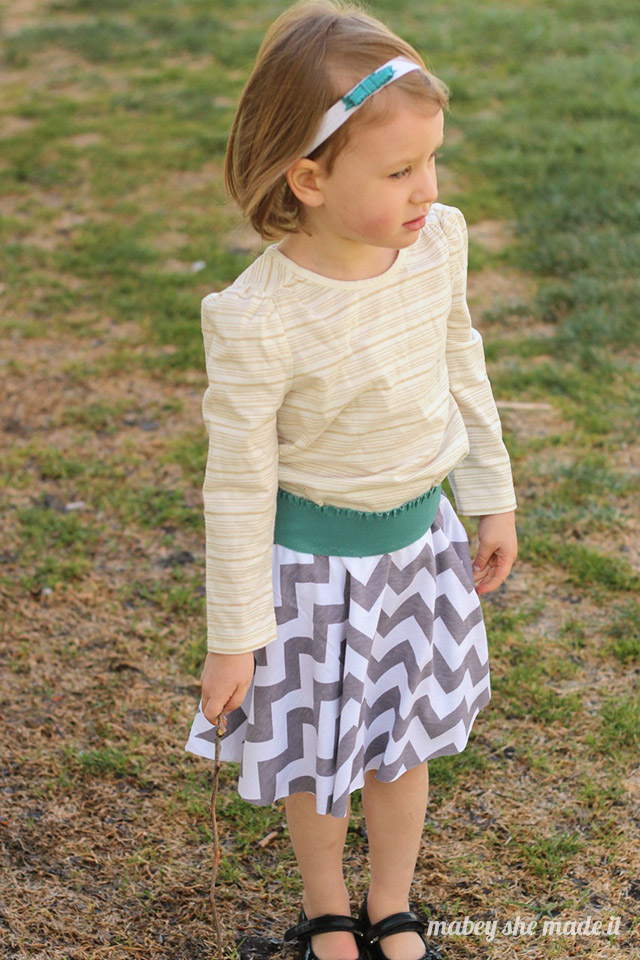 These circle skirts are so easy to make--literally one seam! Yes, you can do it.