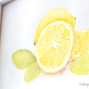 Lemon Watercolor Printable for Summer