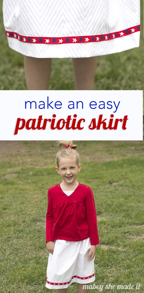 Get ready for the festivities with this quick and easy patriotic skirt for the Fourth of July.