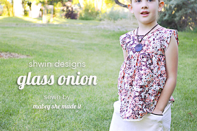 Pattern review for the Glass Onion Top from Shwin Designs. In two words: its perfect.