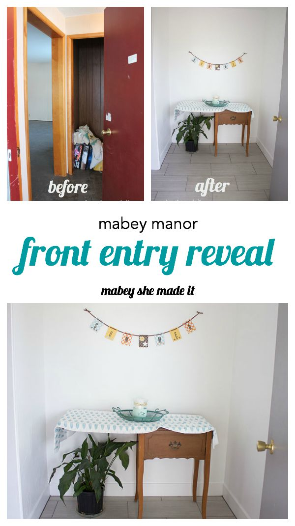 Mabey Manor front entry reveal.