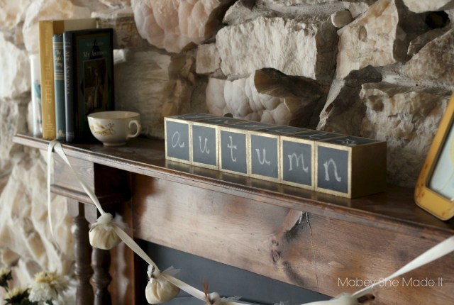 Use these Wooden Chalkboard blocks all year long--just change what they say for the upcoming holiday!