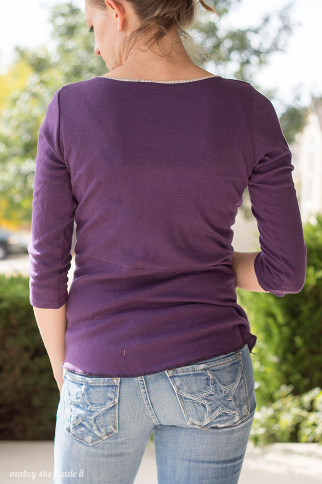 Diamond Top from the Unbiased collection by Pattern Anthology sewn by Mabey She Made It