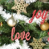 Peace, Love, and Joy Ornaments