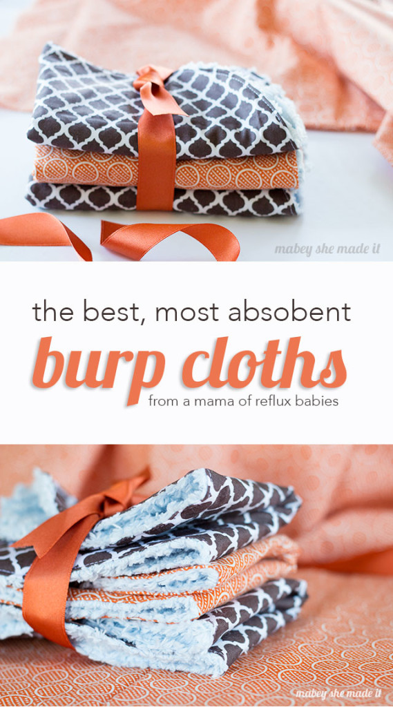These are the best, most absorbent burp cloths you'll ever use. Coming from a mama who has had 3 reflux babies.