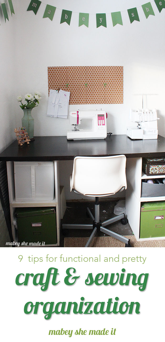 Check out these ideas for craft and sewing organization. Organize your sewing space for the new year!