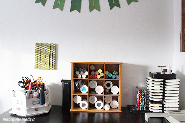 Check out these ideas for craft and sewing organization.