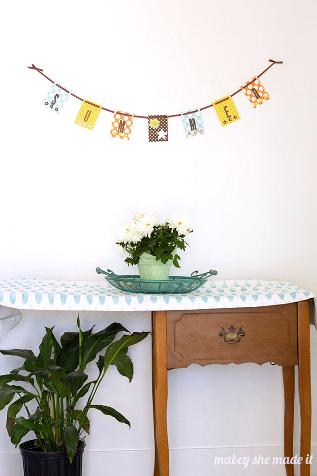 Using basic paper crafting tools, make this simple summer bunting in 20 minutes or less!