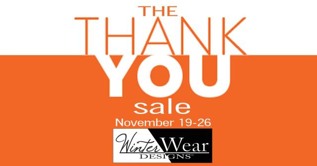 Thank you Sale from Winter Wear Designs