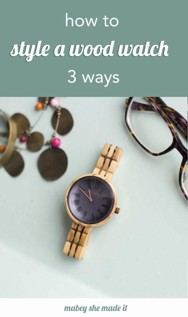 Styling a wood watch