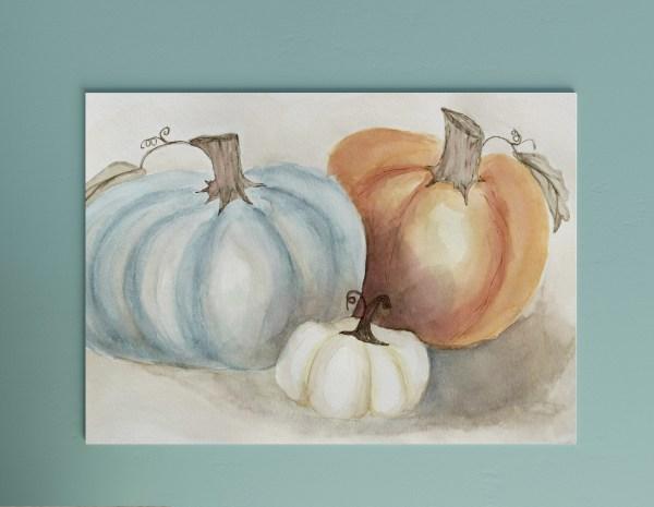 Pumpkin Watercolor Printable