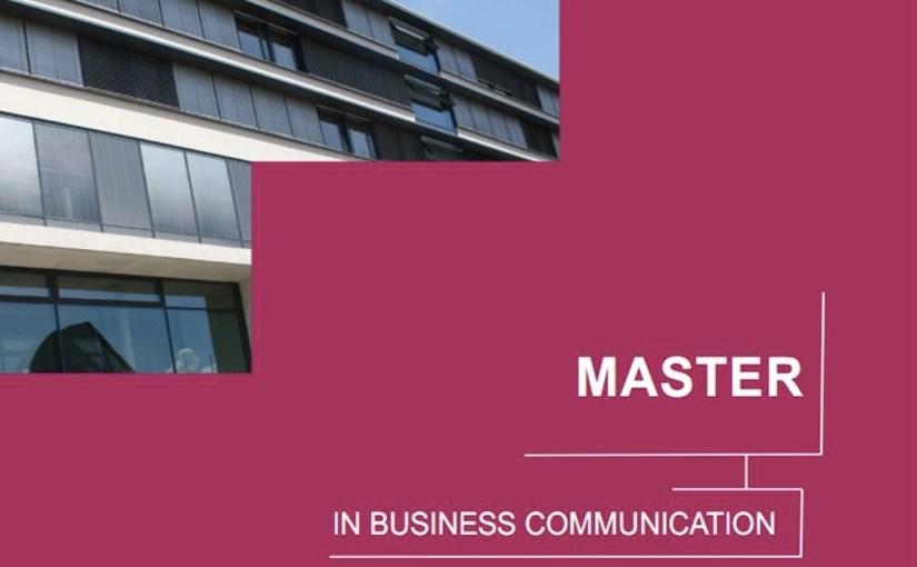 Présentation du Master en Business Communication
