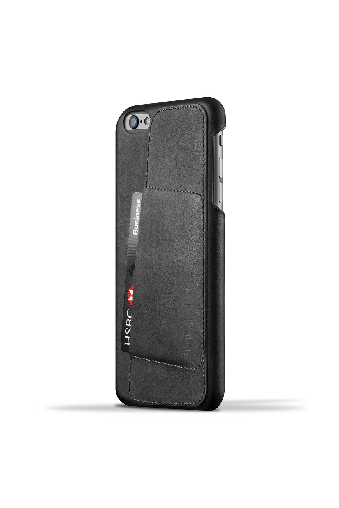 info for 4f49d 359e2 Black Leather Wallet Case 80° for iPhone 6/6s Plus by Mujjo | Mac-Ave
