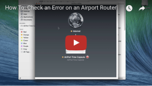 How To: Check an Error on an AirPort Router