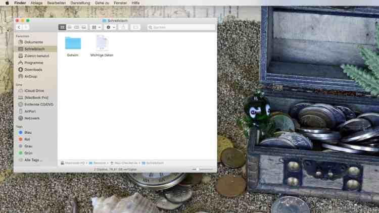 Verschlüsselung eines Ordners am Mac – Ordner anlegen