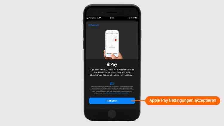 Apple Pay Bedingungen akzeptieren
