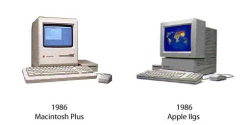 Macintosh Plus und Apple IIgs