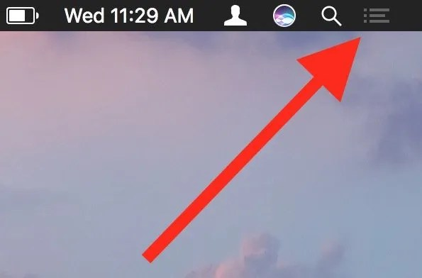 image of Notification center