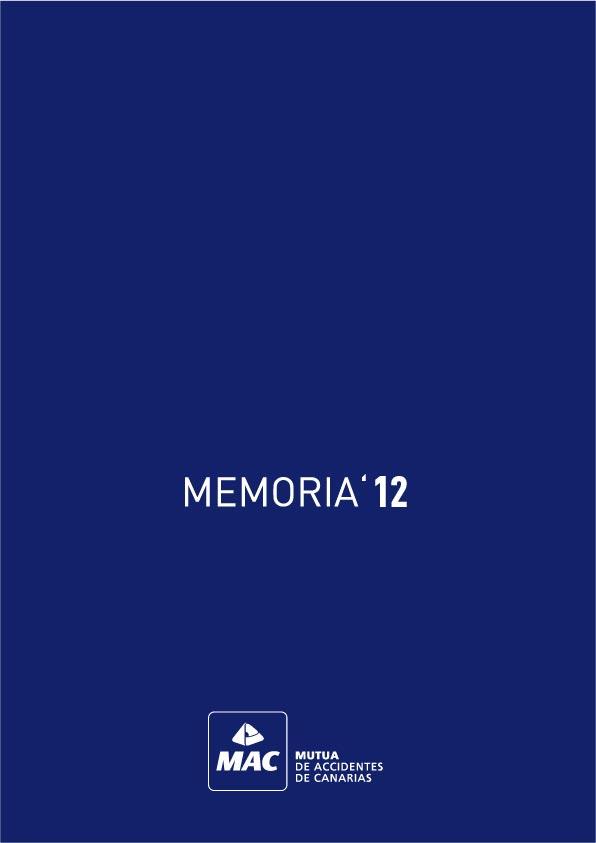 Portada de la Memoria anual 2012