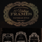 Creativemarket 10 Frames Vol 7 Victorian Ornament 59414 icon