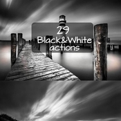 Creativemarket 29 Black and White actions 58855 icon