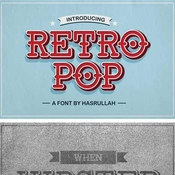 Retro Pop Font Family 5 Fonts icon