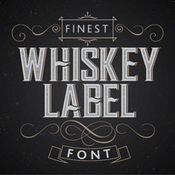 Creativemarket Vintage label whiskey style font 201409 icon