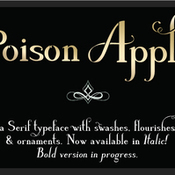 Creativemarket Poison Apple a Serif and Script font 32311 icon