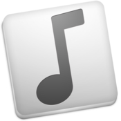 Minuet light and elegant music player icon