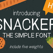 Creativemarket Snacker sans serif font 332312 icon