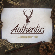 Creativemarket authentic a monoline sctipt font 351825 icon