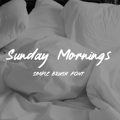 Sunday morning brush typeface 431931 icon