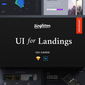 Craftwork singleton ui pack for landings psd web elements icon