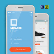Newface square ui kit by alexey makarov ai eps png psd icon