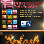 12 photoshop text effect styles vol 5 10744485 icon