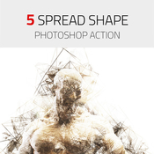 5 spread shape photoshop action 13461589 icon