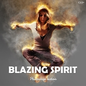 Blazing spirit fire photoshop action v101 13448466 icon