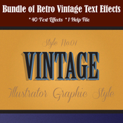 Bundle of retro vintage text effects 12913324 icon