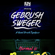 Gebrush sweger typeface 15187605 icon