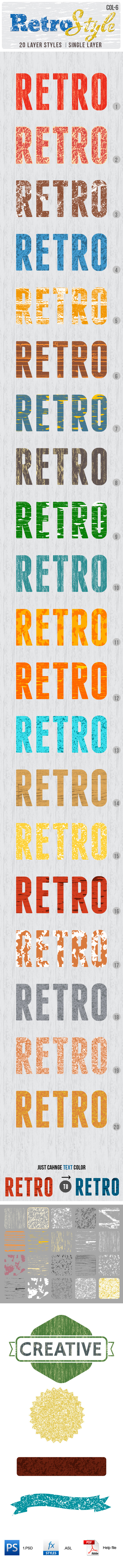 Retro Layer Styles