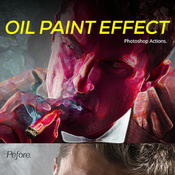 Oil paint effect photoshop action 12144471 icon