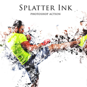 Splatter ink photoshop action 12720711 icon