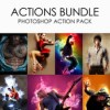 Actions bundle photoshop action pack 12245794 icon