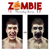 Zombie photoshop action 13077710 icon